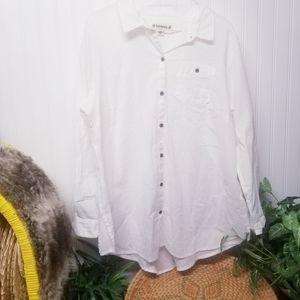 Ruffhewn White Button Down Shirt Size 1X